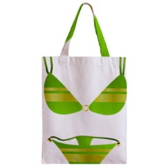 Green Swimsuit Classic Tote Bag by BangZart