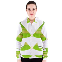 Green Swimsuit Women s Zipper Hoodie by BangZart