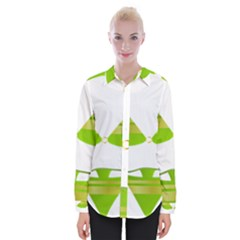 Green Swimsuit Womens Long Sleeve Shirt