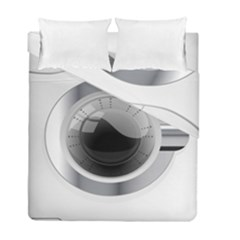 White Washing Machine Duvet Cover Double Side (full/ Double Size)