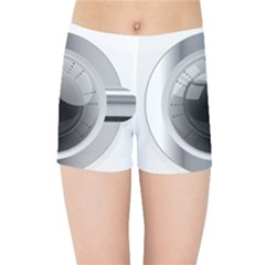 White Washing Machine Kids Sports Shorts by BangZart