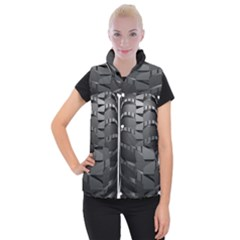 Tire Women s Button Up Puffer Vest