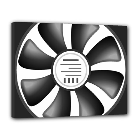 12v Computer Fan Canvas 14  X 11  by BangZart
