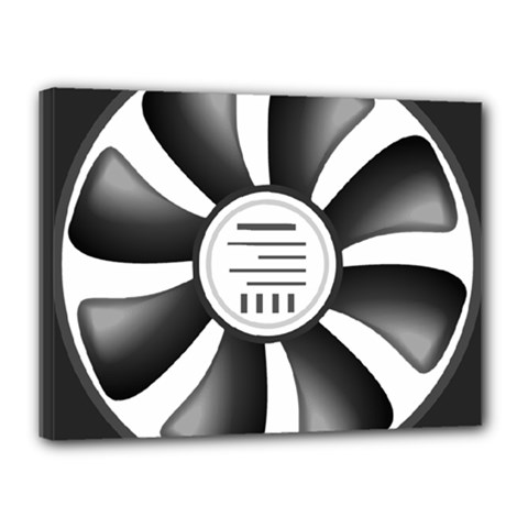 12v Computer Fan Canvas 16  X 12  by BangZart