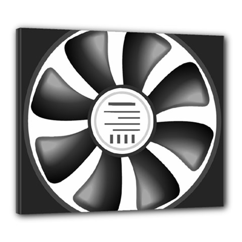 12v Computer Fan Canvas 24  X 20  by BangZart