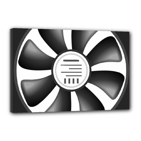 12v Computer Fan Canvas 18  X 12  by BangZart