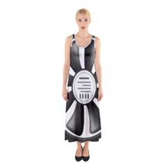 12v Computer Fan Sleeveless Maxi Dress