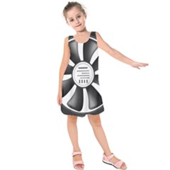 12v Computer Fan Kids  Sleeveless Dress