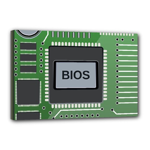 Computer Bios Board Canvas 18  X 12  by BangZart