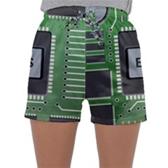 Computer Bios Board Sleepwear Shorts