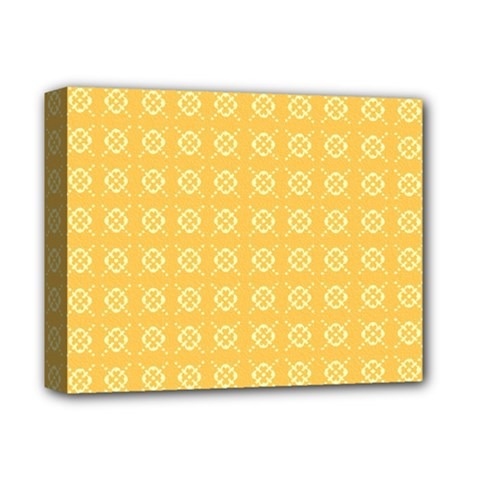 Yellow Pattern Background Texture Deluxe Canvas 14  X 11  by BangZart