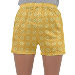 Yellow Pattern Background Texture Sleepwear Shorts