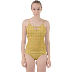 Yellow Pattern Background Texture Cut Out Top Tankini Set by BangZart