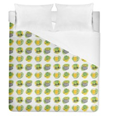 St Patrick S Day Background Symbols Duvet Cover (queen Size)