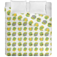 St Patrick S Day Background Symbols Duvet Cover Double Side (california King Size)