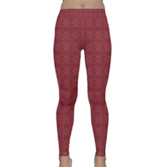 Purple Pattern Background Texture Classic Yoga Leggings