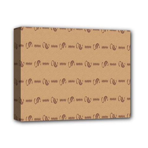 Brown Pattern Background Texture Deluxe Canvas 14  X 11  by BangZart