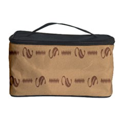 Brown Pattern Background Texture Cosmetic Storage Case by BangZart