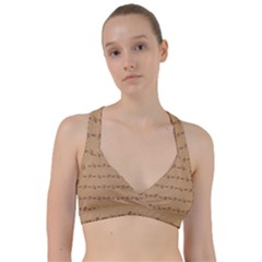 Brown Pattern Background Texture Sweetheart Sports Bra by BangZart