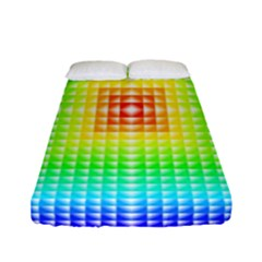 Square Rainbow Pattern Box Fitted Sheet (full/ Double Size) by BangZart