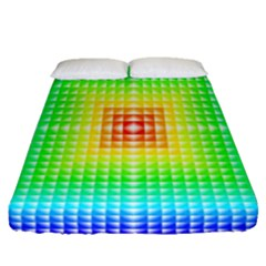 Square Rainbow Pattern Box Fitted Sheet (queen Size)