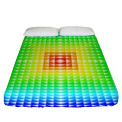 Square Rainbow Pattern Box Fitted Sheet (king Size)