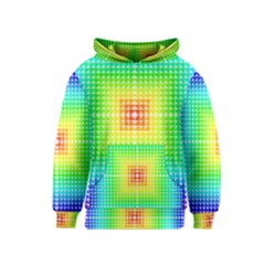 Square Rainbow Pattern Box Kids  Pullover Hoodie