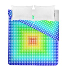 Square Rainbow Pattern Box Duvet Cover Double Side (full/ Double Size)