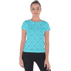 Pattern Background Texture Short Sleeve Sports Top  by BangZart