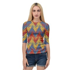 Aztec South American Pattern Zig Quarter Sleeve Tee by BangZart
