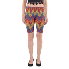 Aztec South American Pattern Zig Yoga Cropped Leggings
