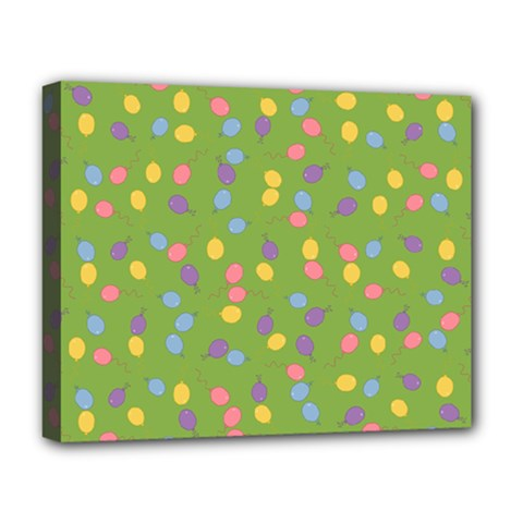Balloon Grass Party Green Purple Deluxe Canvas 20  X 16   by BangZart