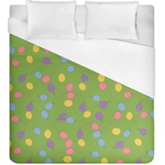 Balloon Grass Party Green Purple Duvet Cover (king Size) by BangZart