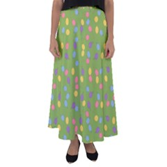 Balloon Grass Party Green Purple Flared Maxi Skirt by BangZart