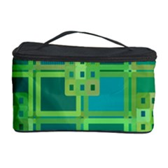 Green Abstract Geometric Cosmetic Storage Case by BangZart
