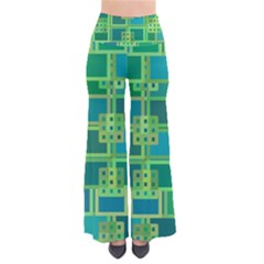 Green Abstract Geometric Pants