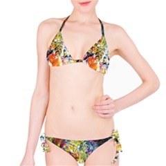 Multicolor Anime Colors Colorful Bikini Set by BangZart