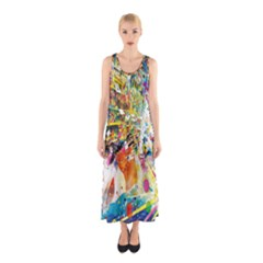 Multicolor Anime Colors Colorful Sleeveless Maxi Dress by BangZart