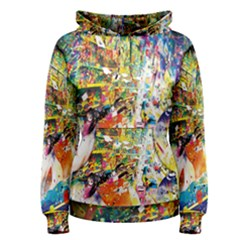 Multicolor Anime Colors Colorful Women s Pullover Hoodie