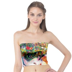 Multicolor Anime Colors Colorful Tube Top by BangZart