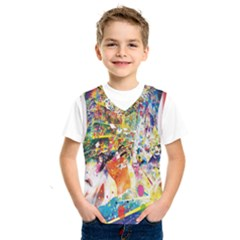 Multicolor Anime Colors Colorful Kids  Sportswear