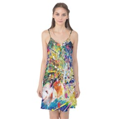 Multicolor Anime Colors Colorful Camis Nightgown