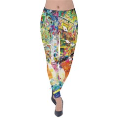 Multicolor Anime Colors Colorful Velvet Leggings