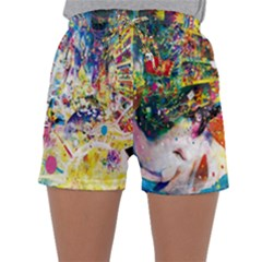 Multicolor Anime Colors Colorful Sleepwear Shorts