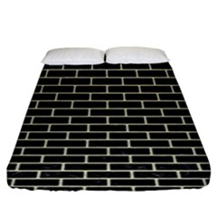 Brick1 Black Marble & Beige Linen Fitted Sheet (king Size) by trendistuff
