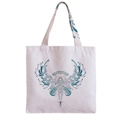 Angel Tribal Art Zipper Grocery Tote Bag by BangZart