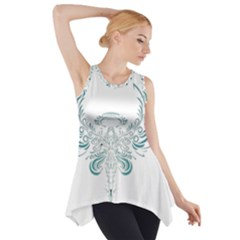 Angel Tribal Art Side Drop Tank Tunic