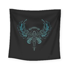 Angel Tribal Art Square Tapestry (small)