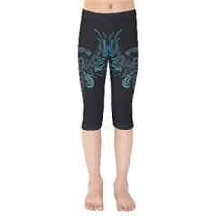 Angel Tribal Art Kids  Capri Leggings  by BangZart