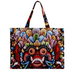 Wood Sculpture Bali Logo Mini Tote Bag by BangZart